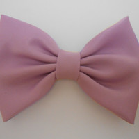 Iris  Satin Hair Bow, Blue GirlsHair Bow, Fabric Hair Bow