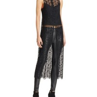 Alice and Olivia Gretchen Lace Tunic | Bloomingdales's