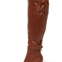 Tall Tales Whiskey Brown Over the Knee Boots