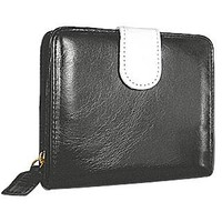 Forzieri Designer Wallets Vintage Two-tone Leather ID Wallet with Tab