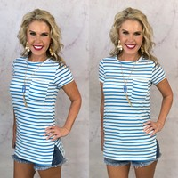Stripe Pocket Tunic Top