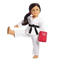American Girl® Clothing: Karate Class Set for Dolls + Charm