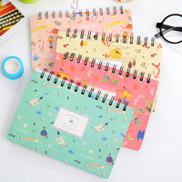 Creative Animals And Plants Coil Planner Journal Record Notebook Diary Book Exercise Notepad Escolar Papelaria Gift Stationery