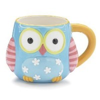 "Whimsical Owl Coffee Mug/cup With ""Life's A Hoot"" Printed On Back Of Mug"