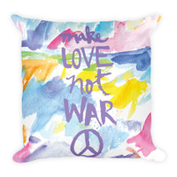 Make Love Not War Pillow