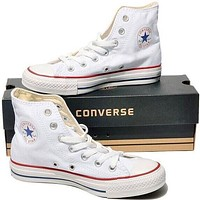 "Alwayn ""Converse"" Fashion Casual Running Canvas Flats Sneakers Sport Shoes White G"