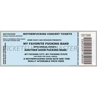 concert ticket - Google Search