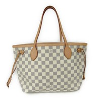LOUIS VUITTON Neverfull PM totebag Handbag N51110 Damier Azur Gray
