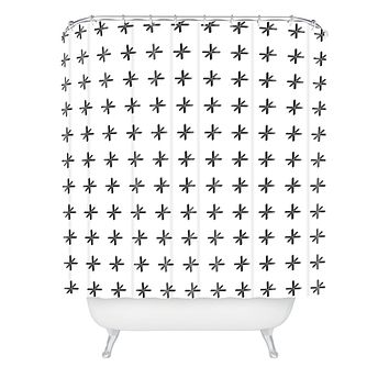 Wesley Bird Cross Out White Shower Curtain