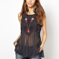 Free People In The Free World Top with Embroidery