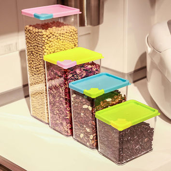 Plastic Kitchen Storage Box Sealed Cans [11516239439]