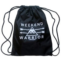 Weekend Warrior Drawstring Bag