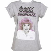 Ladies Frenchie Beauty School Dropout Grease Rolled Sleeve Boyfriend T-Shirt : TruffleShuffle.com