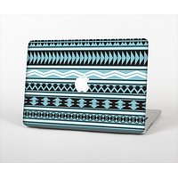 The Vector Blue & Black Aztec Pattern V2 Skin Set for the Apple MacBook Air 13""