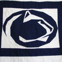 Penn State Nittany Lion Paper Piecing Pattern Quilt Block | Los Angeles Needlework