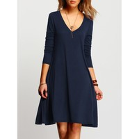 Love The Game Swing Dress - Navy