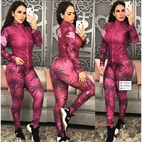 NIKE Women Long Sleeve Shirt Sweater Pants Sweatpants Set Two-Piece