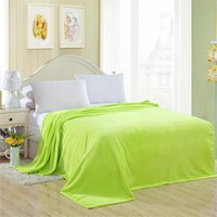 Solid color Fleece Blanket Spring warm Autumn soft queen king blankets throw on Sofa Bed Plane Travel Plaids patchwork 4 sizes