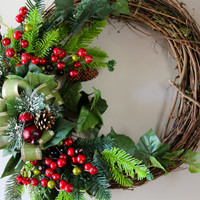 Christmas Wreath, Holiday Wreath, Door Wreath, Christmas Decoration, Winter Wreath, Holiday Decor