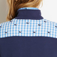 Gingham Whale Embroidered Shep Shirt