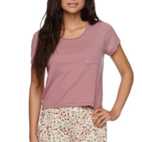 Sunbleached Abbey Short Sleeve Sun Fade Cropped Top at PacSun.com