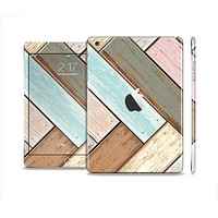 The Zigzag Vintage Wood Planks Full Body Skin Set for the Apple iPad Mini 2