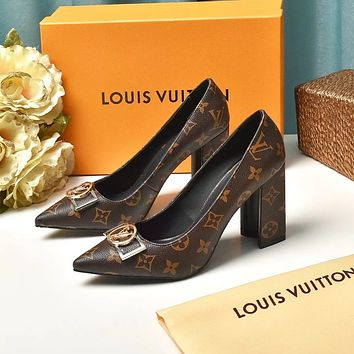 lv louis vuitton trending womens black leather side zip lace up ankle boots shoes high boots 250