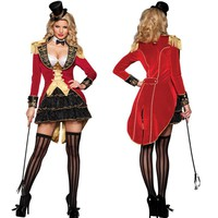 Adult Women Halloween Costumes Wild Animal Trainer Dress Girl Suit Dresses Cosplay Costumes Circus Performance Clothes