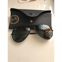Ray Ban Black Aviators 58
