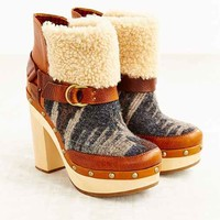 Woolrich Artist Ginger Sherpa Heeled Boot- Brown Multi
