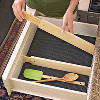 Drawer Dividers, spring loaded non-slip draw organizers  Solutions