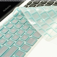 TopCase Silicone Keyboard Cover for Macbook Unibody 13-Inch, Macbook Pro Aluminum Unibody 13, 15, 17-Inch and Macbook Air 13-Inch Bundle with Mouse Pad - Light Blue