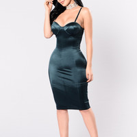 Stupid In Love Dress - Teal