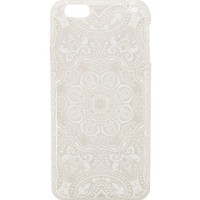With Love From CA White & Clear Mandala iPhone 6 Case - Womens Scarves - White - One
