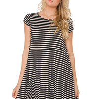 Gemini Stripe Shift Dress