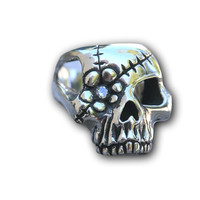 Unisex Flower Patch Pirate Skull Sugar Skull Statement Ring
