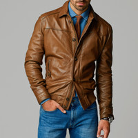 NAPPA LEATHER JACKET - View all - Leather jackets - MEN - United States of America / Estados Unidos de América