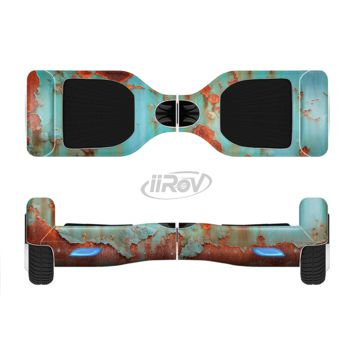 The Teal Painted Rustic Metal Full Body Skin Set for the Smart Drifting SuperCharged Transportation iiRov