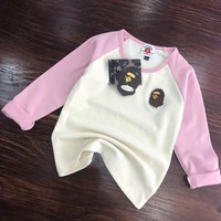 Bape Girls Boys Children Baby Toddler Kids Child Fashion Top Sweater Pullover
