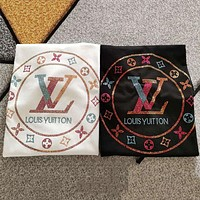 Louis Vuitton LV new short-sleeved colorful diamond round neck loose men and women couple T-shirt