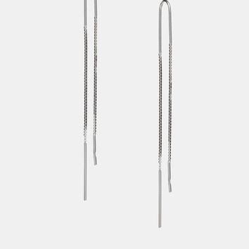 ASOS Sterling Silver Chain Through Earrings
