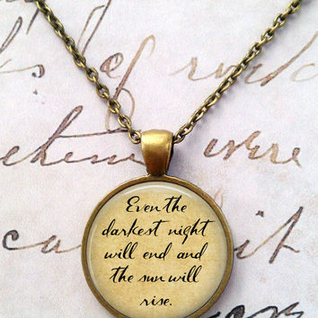 Les Miserables Necklace, Victor Hugo, Musicals, Classic Literature, Books, Library T1161