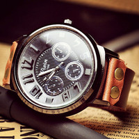 Man's Leather Watch