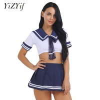 HOT Japanese Sexy Anime Hell Overwatch Girl Cosplay Costume Schoolgirl Uniforms Cute Sailor Suit JK Student Role Play Clothing