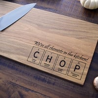 Engraved Cutting Board, Periodic Table of the Elements Tiles  - CHOP - Science Gift for the Kitchen Chemist, Geekery, Science Art