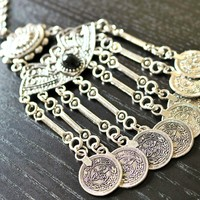 Turkish Silver Necklace - Boho Jewelry, Handmade Jewelry, Unique Jewelry
