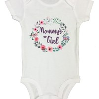 Mommys Girl Funny Kids Onesuit