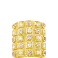Byzantine Gold 750° Ring with Diamonds & Pink Sapphires