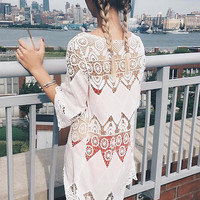 Cupshe Made the Cut Lace Hollow Cover-up