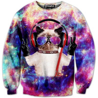 DJ Space Kitty Crewneck